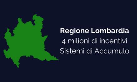 Anche la Regione Lombardia investe nei sistemi di accumulo. 3000 euro a fondo perduto.