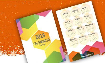 Calendario Tecnoapp per il 2018