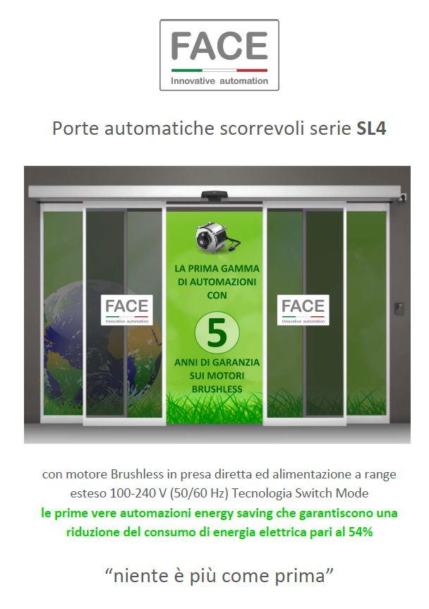 Porte automatiche scorrevoli serie SL4