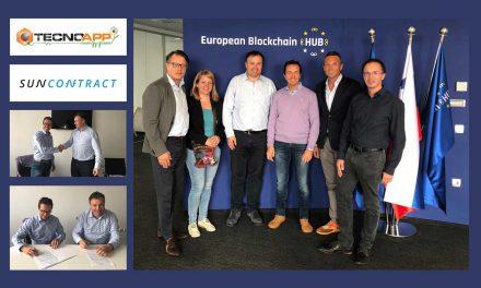 Rivoluzione elettro-blockchain. Partnership Tecnoapp Suncontract