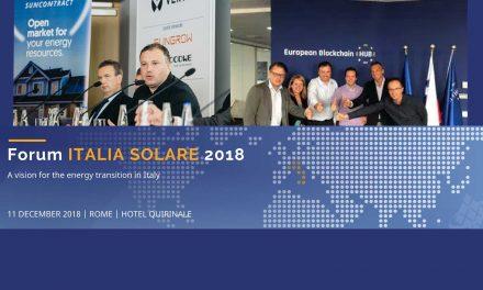Tecnoapp al fianco di SunContract relatore al Forum ITALIA SOLARE 2018