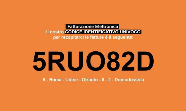 Codice Identificativo Univoco 5RUO82D