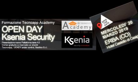 Corso di formazione Sicurezza. OPEN DAY Ksenia Security