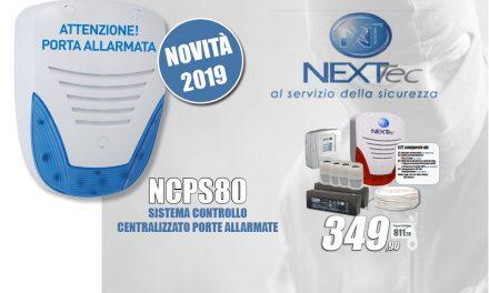 Pomozione NEXTtec e SISTEMA CONTROLLO CENTRALIZZATO PORTE ALLARMATE NCPS80