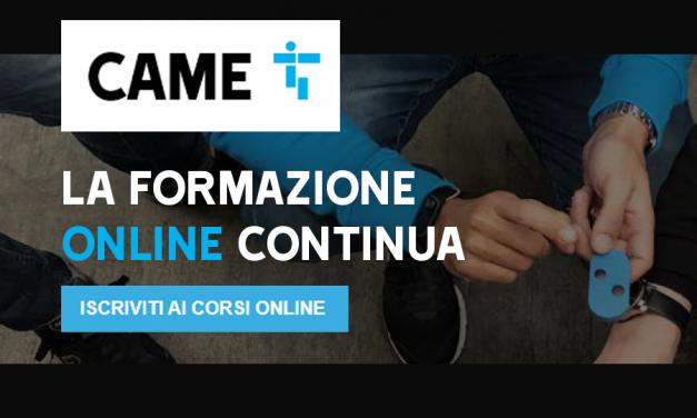 Corsi di formazione CAME online